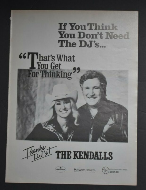 The Kendalls 1982 Advertising Ad 11x14