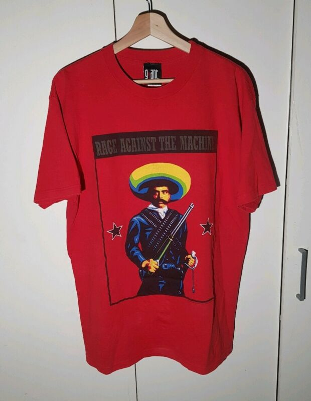 VTG 2000 Rage Against The Machine T-Shirt Emiliano Zapata Shirt Large RATM RARE