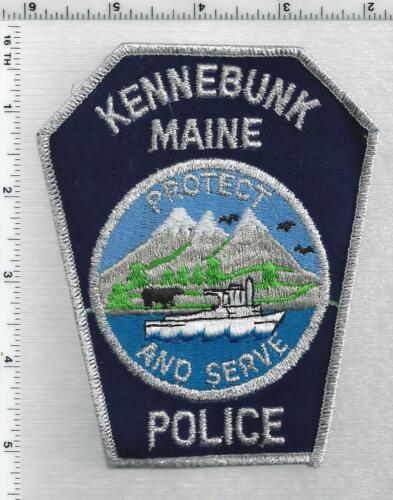 Kennebunk Police (Maine) 1st Issue Silver Bullion Shoulder Patch
