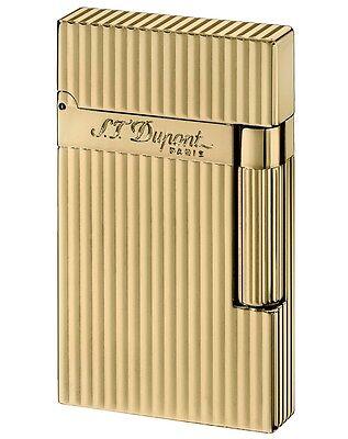 S.T. Dupont Ligne 2 vergoldet gestreift 16827 Feuerzeug Neu statt 695,- €