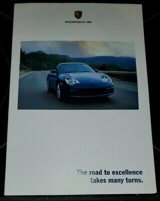 "VINTAGE 2001 PORSCHE FULL LINE Brochure Fold CARRERA 4S GIANT 30"" X 22"" POSTER"