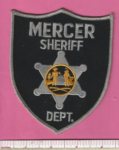 Mercer County Police WV State West Virginia Sheriff Dept. Police Shoulder Patch