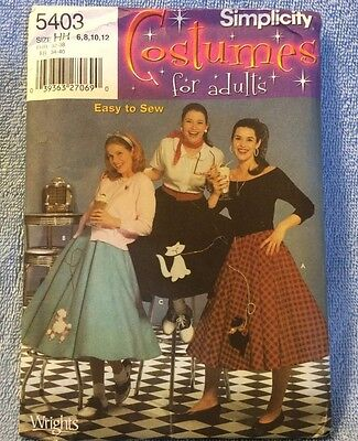 Poodle Skirt Costume For Adults (SIMPLICITY COSTUMES FOR ADULTS MISSES POODLE SKIRTS )