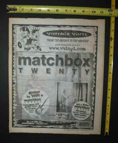 Matchbox Twenty 2000 CD Ad Mad Season
