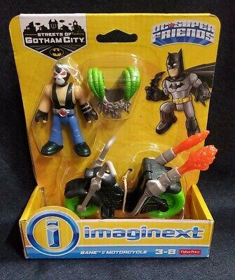 "NEW Imaginext DC Super Friends Batman Streets of Gotham 3"" Bane & Motorcycle"