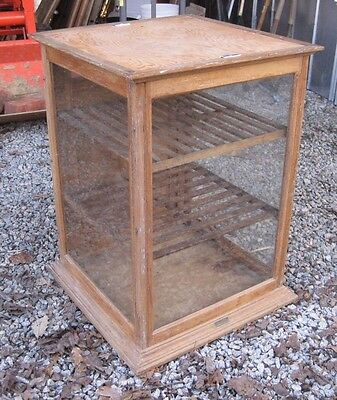 Antique 1897 Oak & Glass Country Store Counter Display Case A5880