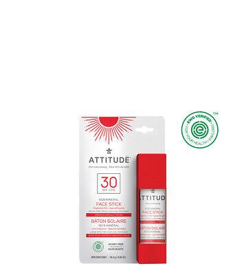 Sonnenschutz-stick (ATTITUDE | duftfreier mineralischer Sonnenschutzstick | Gesicht & Lippen | LSF30)