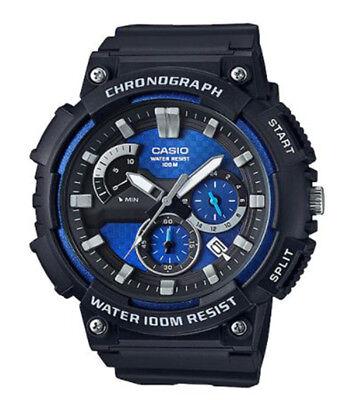 Blue Strap Chronograph Watch (Casio Men's Quartz Chronograph Blue Dial Resin Strap 53mm Watch MCW200H-2AV )