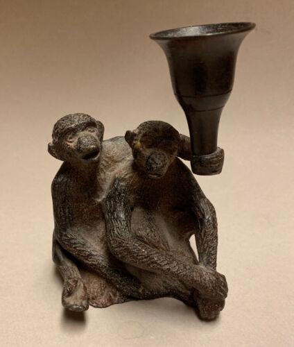 "Monkey Candle Holder, Silvestri Cast Aluminum, 5 1/4"""
