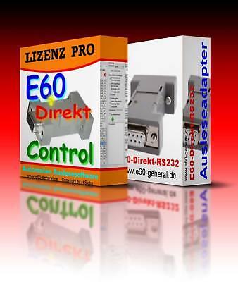 Ausleseadapter E60-Direkt-RS232+USB Adapter+1,8m Kabel + Lizenz PRO (Gewerbe)