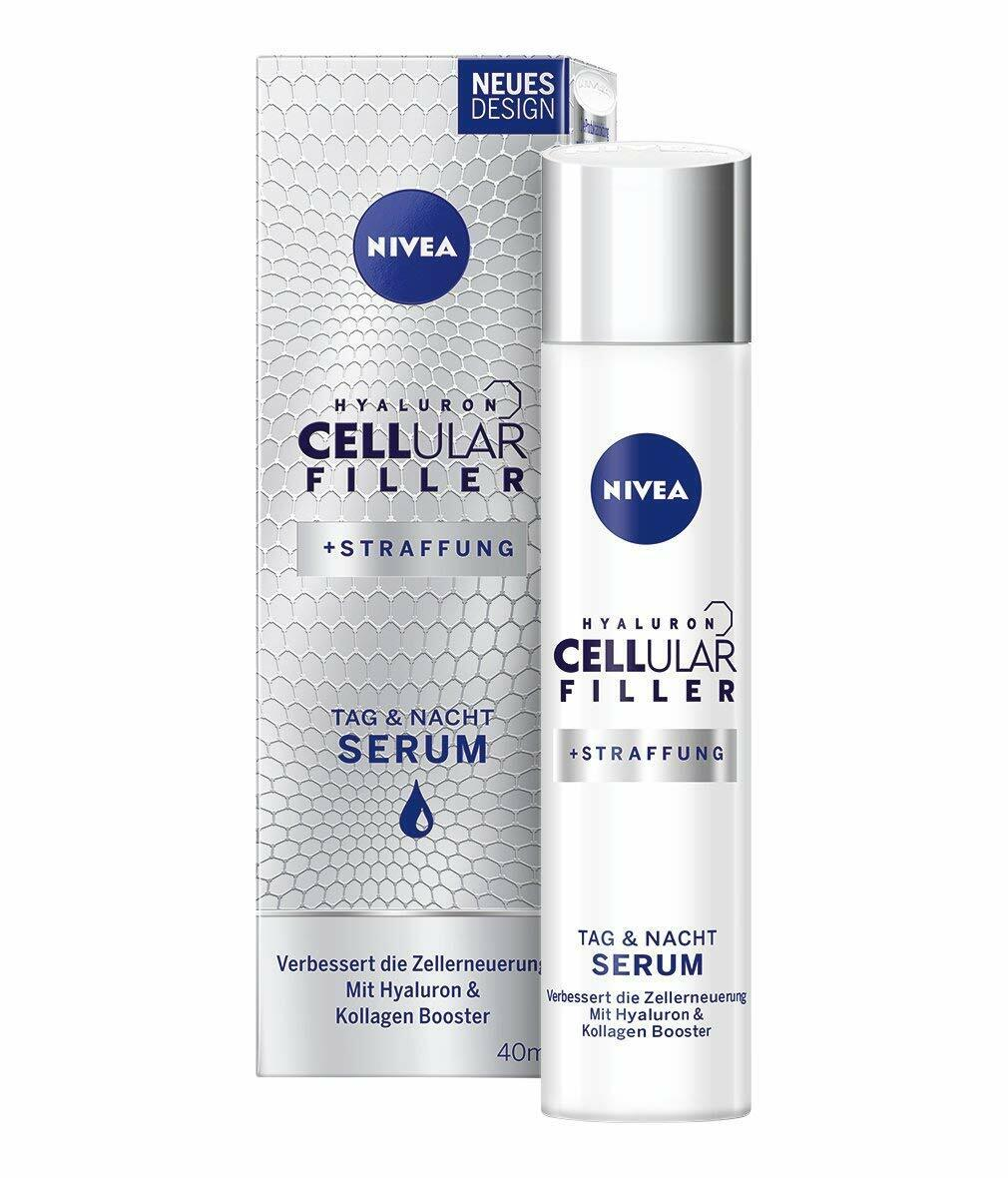 NIVEA Hyaluron CELLular Filler Anti-Age Serum (1 x 40 ml), Anti Falten Creme