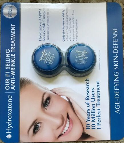 NEW 2 Pack Hydroxatone AM/PM Anti Wrinkle Complex SPF 15 Fac