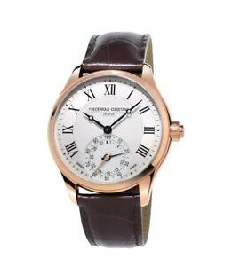 Frederique Constant Men's Quartz Rose Gold Tone Case 42mm Smartwatch FC-285MC5B4