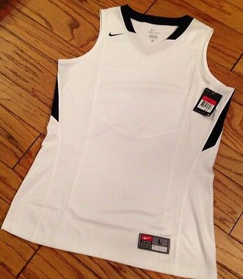 NWT L Large NIKE Womens Front Court Basketball Stock Jersey Sleeveless Tank Top