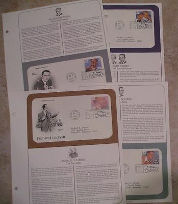 Postal Society First Day Cover 4 FDC's # 3096-3099 32 cent Big Band Leaders 1996