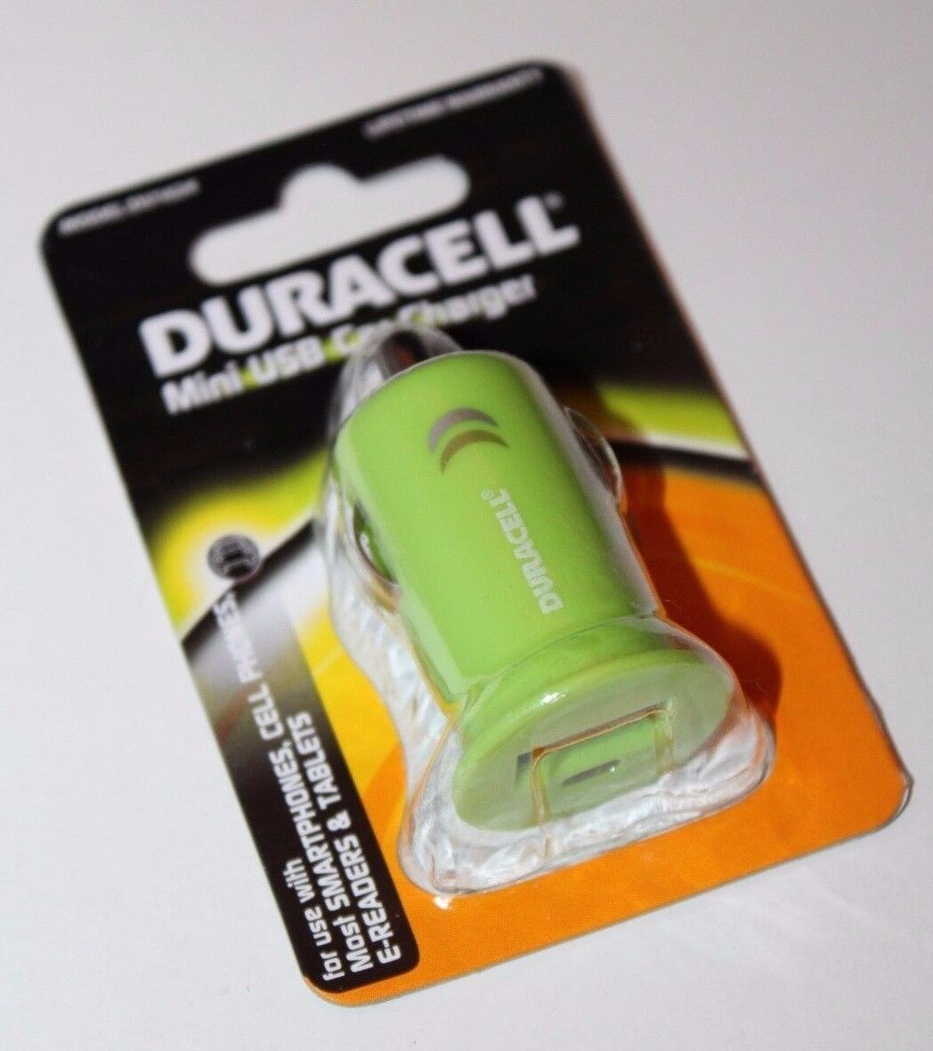 680988616242 UPC - Duracell Mini Usb Car Charger Green