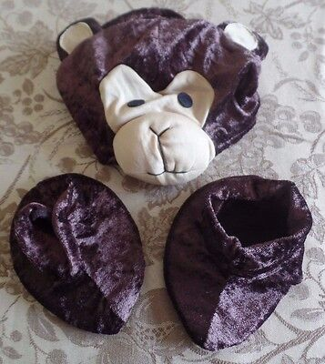 boys size 12 to 24 month MONKEY HAT SLIPPERS BOOTIES HALLOWEEN COSTUME NEW NWOT ](12 Month Monkey Costume)