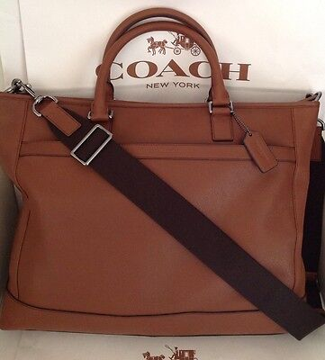 Coach Unisex CML Bus Tote Saddle Tan GM/Classic Tobacco NWT F71416 MSRP $528