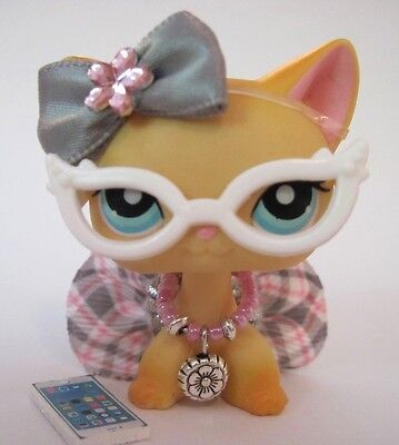 Littlest Pet Shop clothes LPS accessories Custom NERD LOT Pink CAT NOT INCLUDED - Nerd Clothes