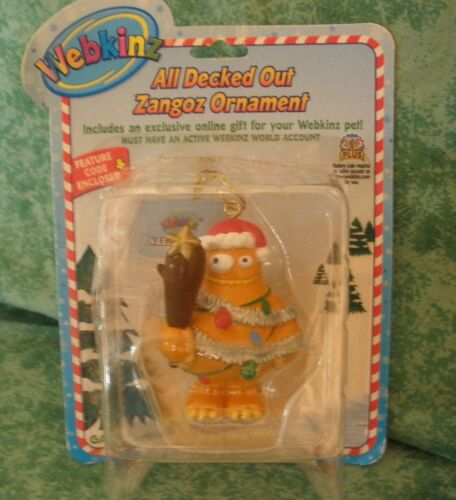 WEBKINZ ALL DECKED OUT~ZANGOZ ORNAMENT WITH CODE~SERIES 1~ SEALED~GANZ~NEW