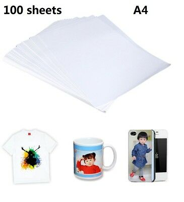 100 Sheets 8.5x11 Dye Sublimation Heat Transfer Paper For Mug Cup Plate T-shirt