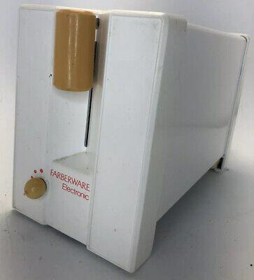 Vintage Farberware Kitchen 2 Slice Toaster White Electronic Mid Century Retro