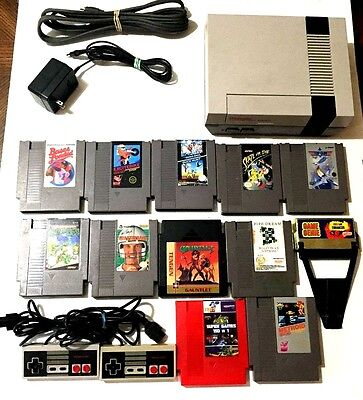 Vintage Original Nintendo NES Console, Controllers, Game Genie & 160 Games Lot