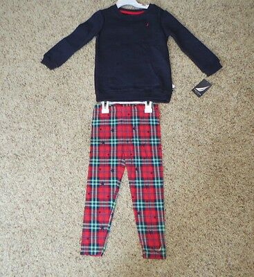 Nautica Toddler Girls 2 Piece Outfit - Size 4T - NWT