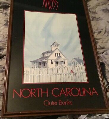 Moss North Carolina Outer Banks Poster Framed P. Buckley Moss signed in Print for sale  Winston-Salem