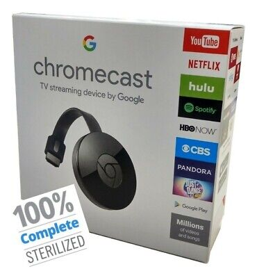 Google GA00439-CA 1080p Chromecast - Black + Free Shipping