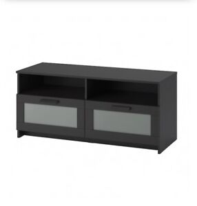 Black brown TV stand bench