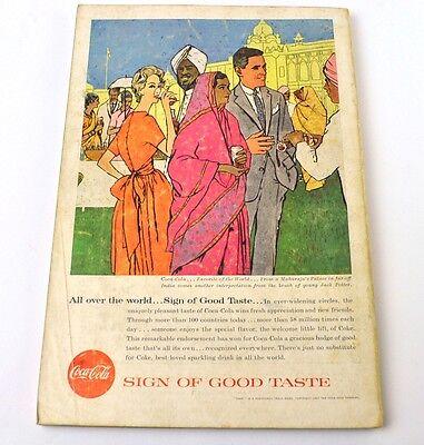 Antiquitäten Anzeigen (Coca-Cola Coke Anzeige USA komplettes Heft National Geographic Magazine 10/1957)