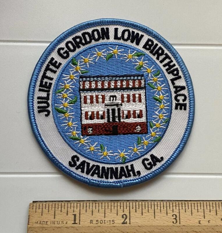 "Juliette Gordon Low Birthplace Savannah Georgia GA 3.5"" Round Embroidered Patch"