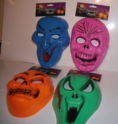 HALLOWEEN 4 Ass. Scary Masks for Children & Adults. Spooky Mask,Haunted - Scary Masks For Kids