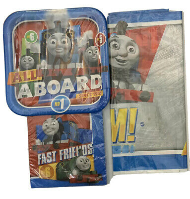 Thomas The Train & Friends Birthday Party Supplies Table Cover Plates Napkins