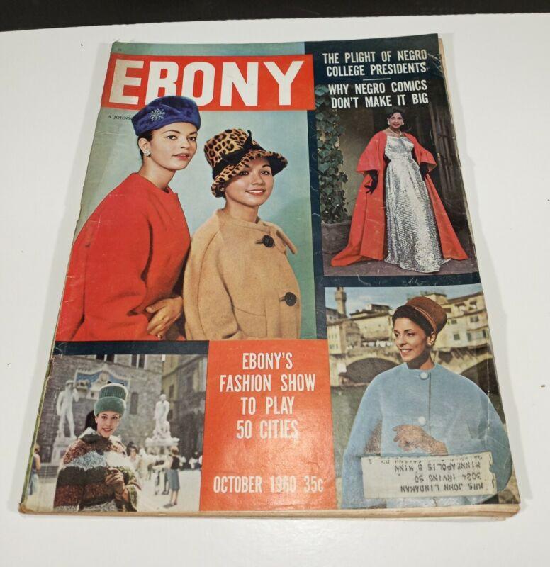 Vintage October 1960 Ebony Magazine 35c Fashion Show