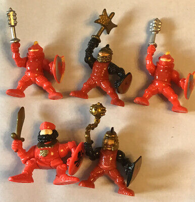 1995 Fisher Price Imaginext Great Adventures Castle Lot of 5 Fire Red Knights