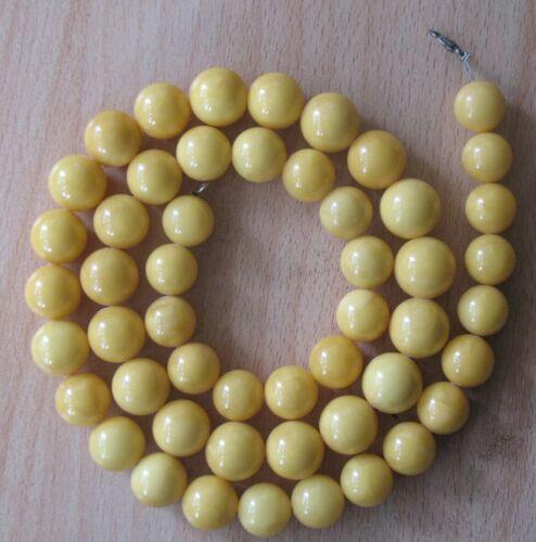 97 gr. GENUINE BUTTERSCOTCH EGG YOLK AMBER BEADS NECKLACE Yellow Honey Fine RARE