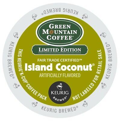 Green Mountain Island Coconut Coffee 48 trust Keurig K Cups Free Shipping !