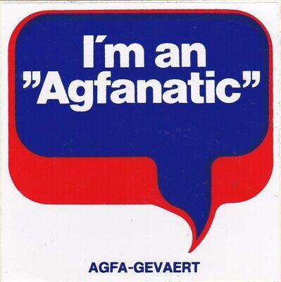 VINTAGE STICKER I'M AN AGFANATIC AGFA GEVAERT