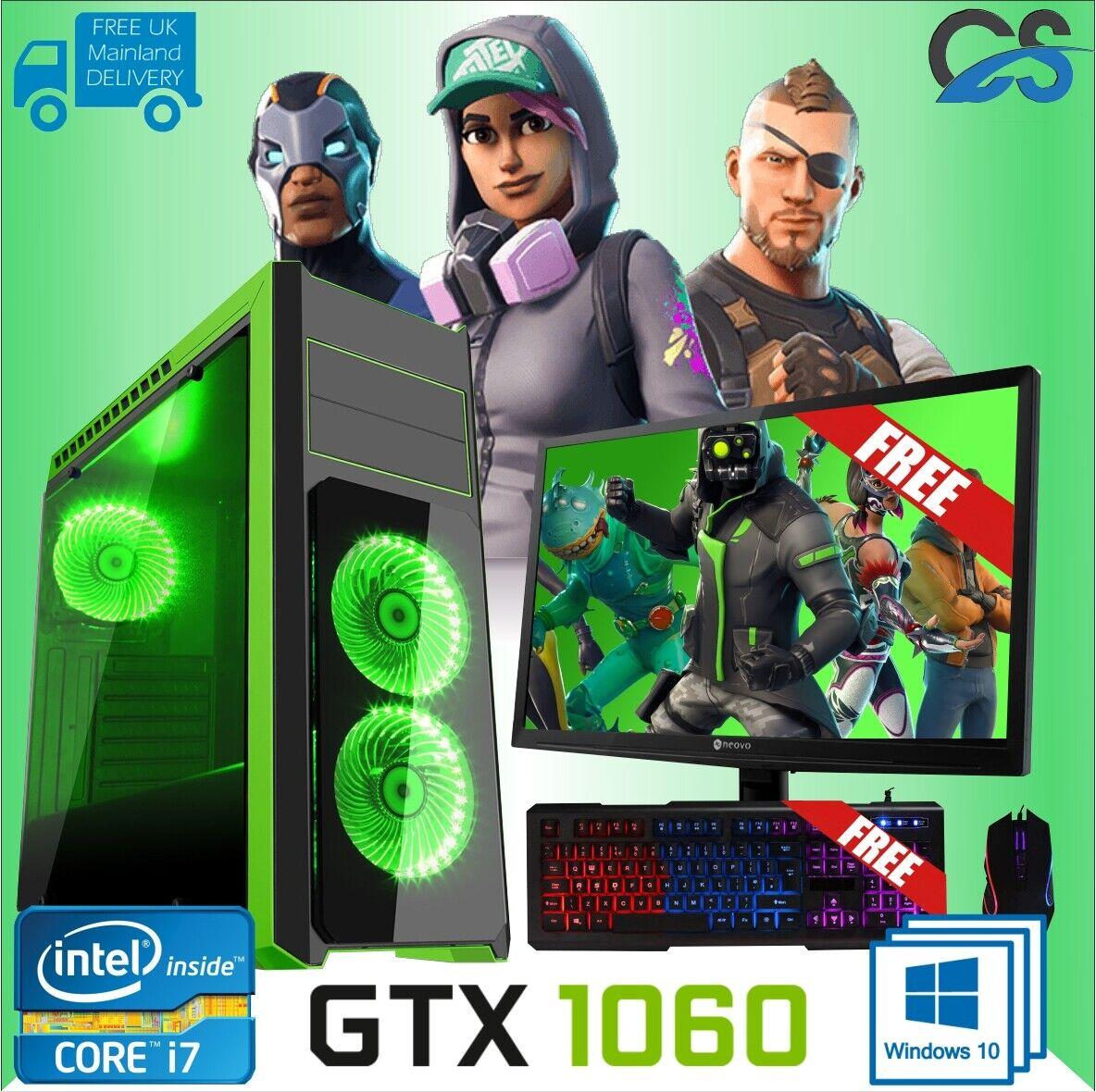 Computer Games - Gaming PC Computer Bundle Intel Quad Core i7 16GB 1TB + 240GB SSD 6GBGTX1660 W10