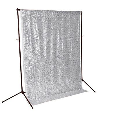 Sequin Curtains for Photography Backdrop 3FTx5FT Silver Video Photo Booth  (Backdrops For Photo Booths)