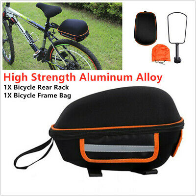 MTB Bike Cycling Rear Saddle Bag Behind Bag Bicycle Rack Pack Frame