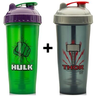 Protein Shaker Supplement Mixer Cups 800ml - Any 2 x Marvel Shaker