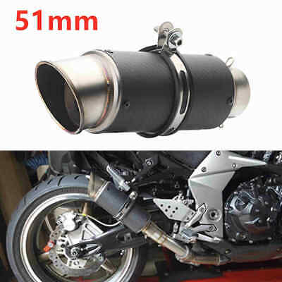 1PC 51mm Motorcycle Dirt Bike Exhaust Pipe Muffler Tailpipe Inlet Universal