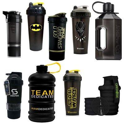 Black Protein Shaker Cups and 2 Litre Water Bottle Jugs | Huge Range Top