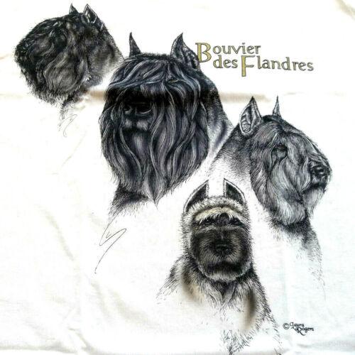 """Bouvier des Flandres T-shirt  """" Natural """" MED ( 38 ~ 40 )"""