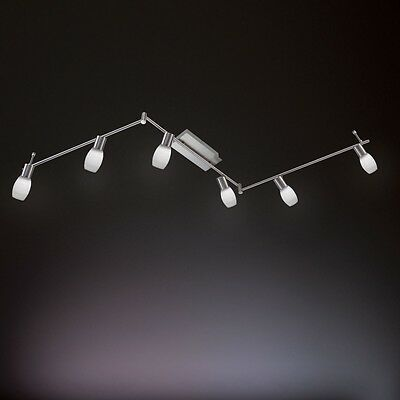 WOFI Decorative 30W LED Colo 377 Ceiling 6 Lamp Nickel Matt A+ Energy rating
