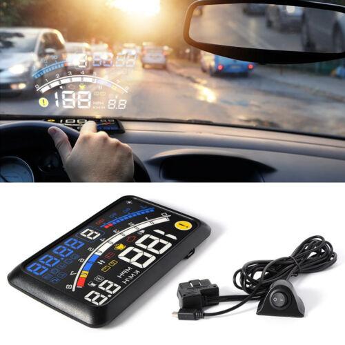 "5.5"" HUD Head-Up Display OBD2 / EOBD Car SUV Dashboard Speed Shift Gear Warning"