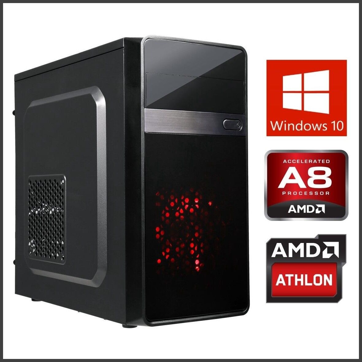 12-core Gaming Computer Desktop PC Tower Quad Core 16GB 3.9G